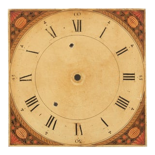 Antique Hand-Painted Dutch Clock Face For Sale