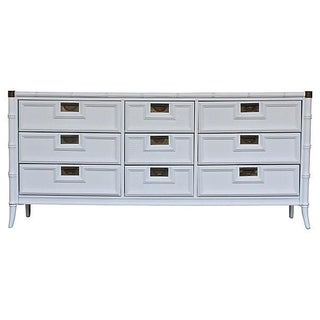 Stanley White Faux-Bamboo Dresser