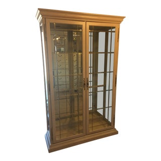 Antique White Lighted Curio/ China Cabinet