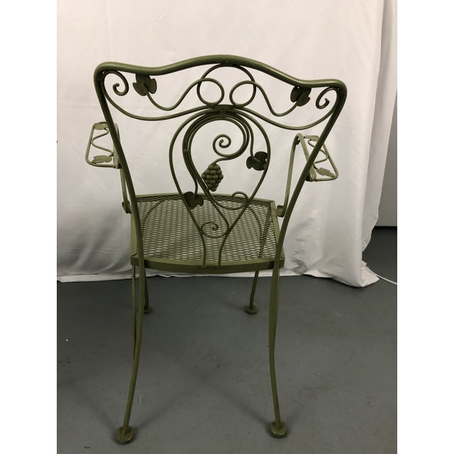 Vintage Woodard Style Wrought Iron Patio Chairs - Set of 6 For Sale In New York - Image 6 of 13