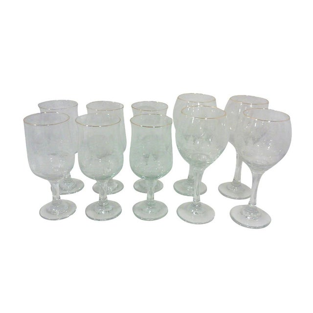 Winter Wine and Goblet Stemware-Set of Ten For Sale - Image 5 of 5