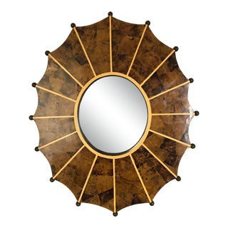1980s Maitland Smith Tessellated Bone Mirror For Sale