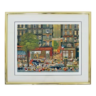 Contemporary Modern Framed Signed Hiro Yamagata Lithograph 27/100 For Sale