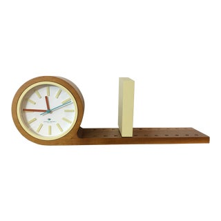Michael Graves Mid Century Maple Bookend Clock For Sale