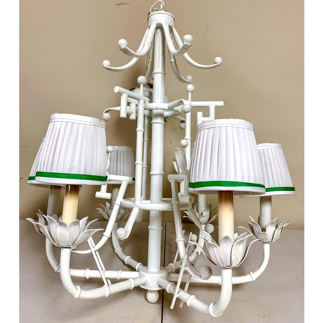 1970s Chinese Chippendale Style Chandelier - 6 Arm For Sale - Image 5 of 6