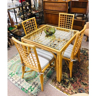 Vintage Bamboo Dining Set Preview