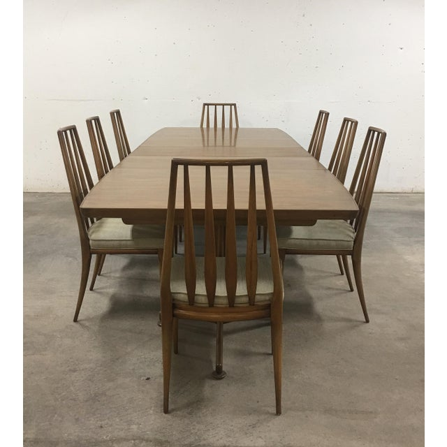 Mid-Century Modern John Widdicomb Mid-Century Dining Table & Chairs - Set of 9 For Sale - Image 3 of 13