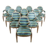 Image of Set of Ten John Hutton for Donghia Silvered Dining Chairs For Sale