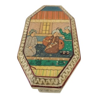 Painted Bone Inlay Box For Sale