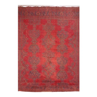 Antique Turkish Oushak Carpet For Sale
