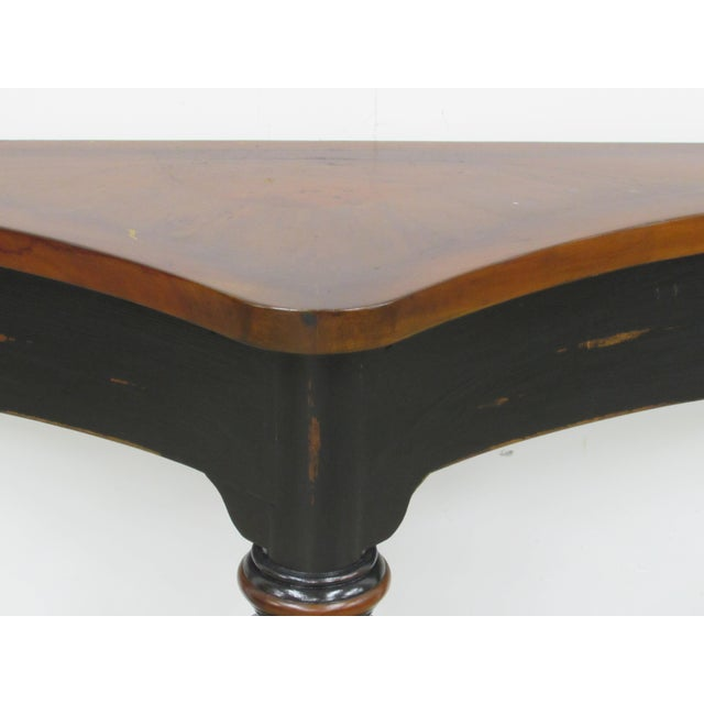 French Country Console Table in Ebony and Fruit-Wood For Sale - Image 4 of 9