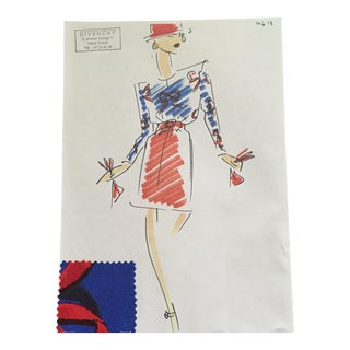 Givenchy Croquis Fashion Sketch For Sale