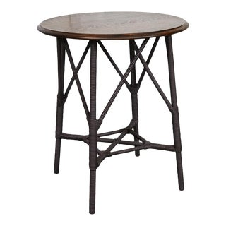 American Wood and Wicker table For Sale