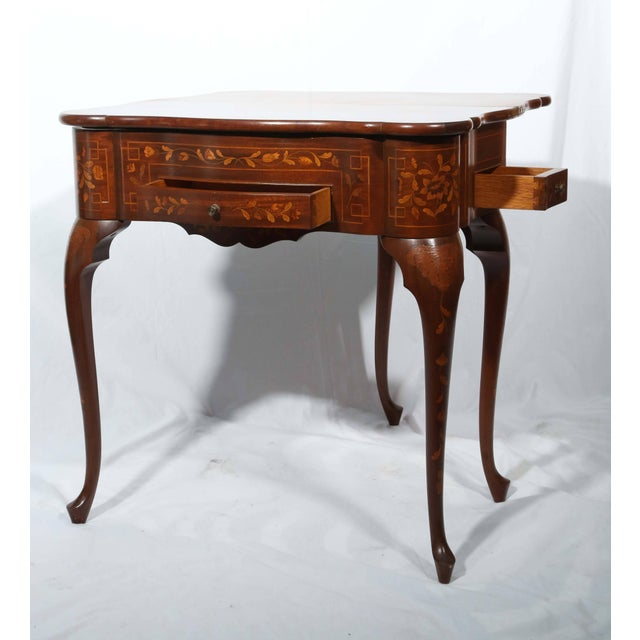 Traditional Fine Dutch Marquetry Game Table For Sale - Image 3 of 11