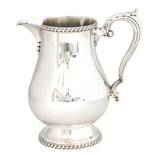 1930s Heavy Wallace Silver Water Pitcher For Sale