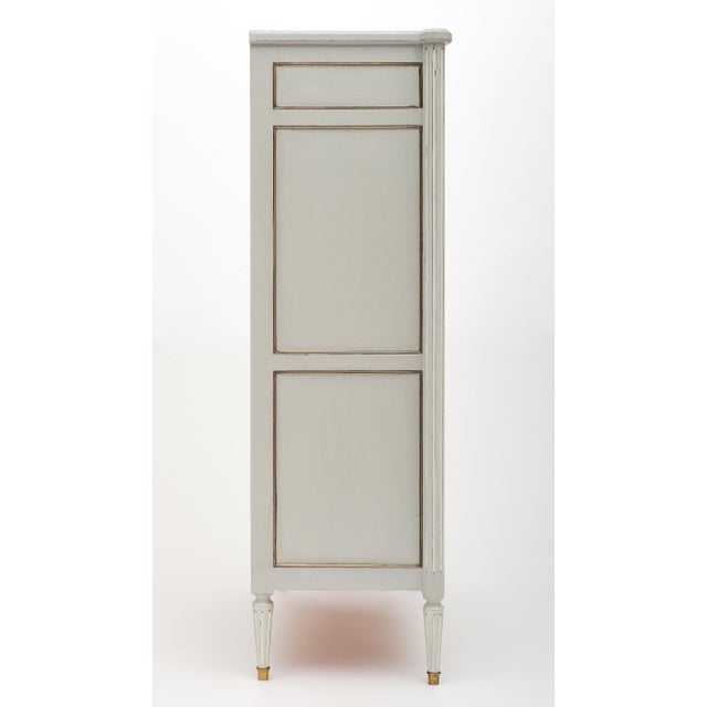 Painted French Antique Secrétaire For Sale - Image 10 of 11