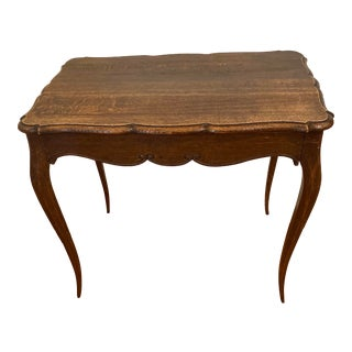 Antique French Oak Writing Desk For Sale