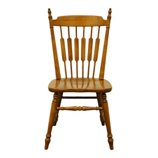 Tell City Maple Colonial Cattail Back Side Chair For Sale