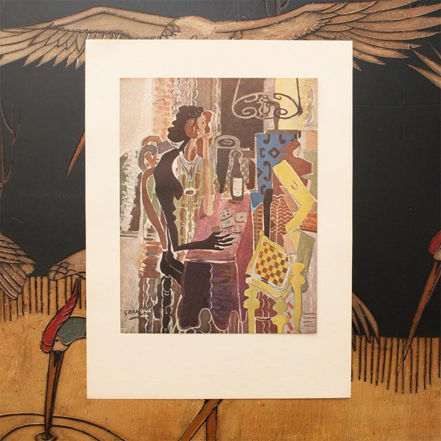"Cubism 1947 Georges Braque, Original Period Lithograph ""The Patience"" For Sale - Image 3 of 8"