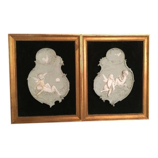 Wedgewood Angel Reliefs - a Pair For Sale
