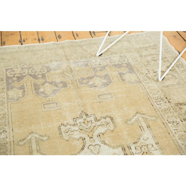 """Islamic Vintage Distressed Oushak Carpet - 5'6"""" X 9'1"""" For Sale - Image 3 of 13"""