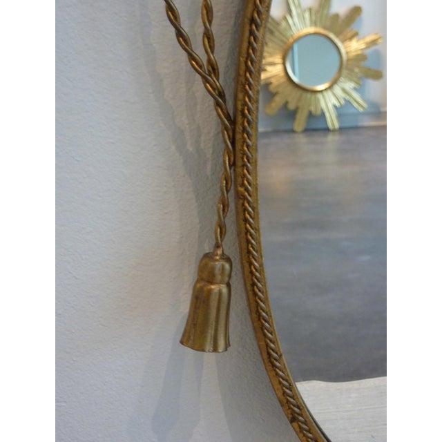 Hollywood Regency Gilded Frame Floral Mirror - Image 7 of 8