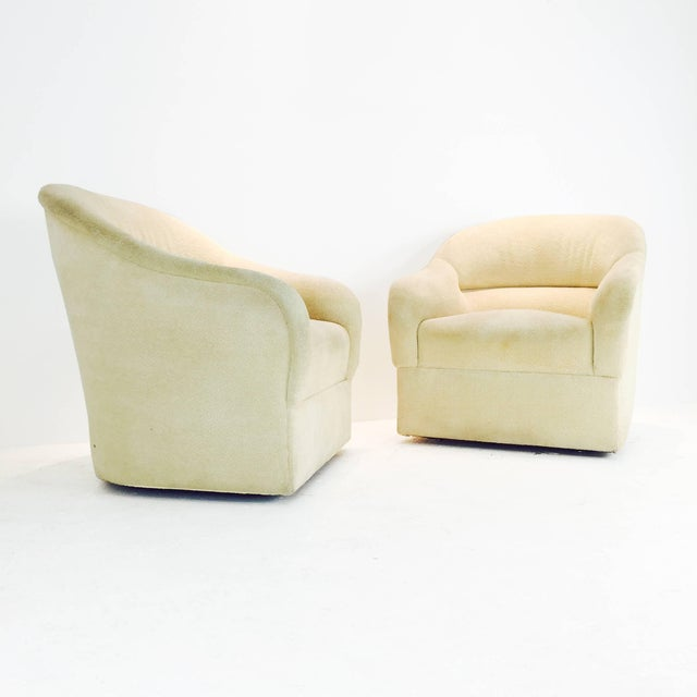 Ward Bennett Pair of Ward Bennett Barrel Back Club Chairs For Sale - Image 4 of 6