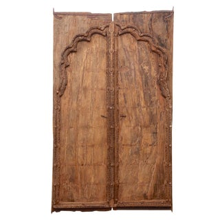 Pair of Antique Mughal Arch Doors For Sale