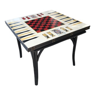 1950s Vintage Novelty Bamboo Game Table For Sale