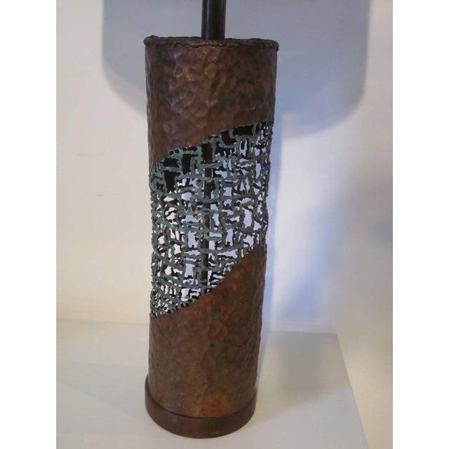 Fantoni Brutalist Torch Cut Lamps for Raymor - a pair For Sale In Cincinnati - Image 6 of 7