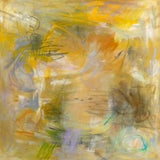 """Image of """"Sunflowers"""" by Trixie Pitts Abstract Expressionist Oil Painting For Sale"""