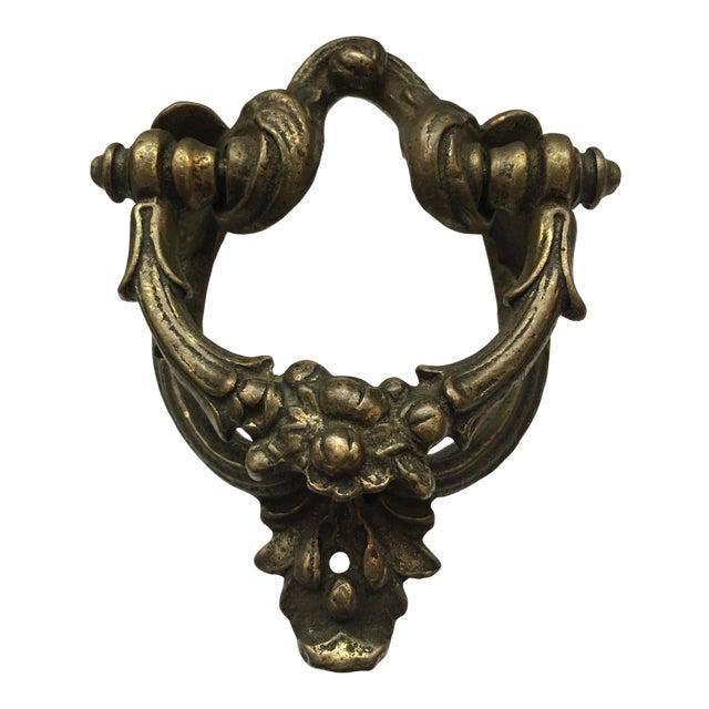 Victorian Cast Brass Door Knocker For Sale