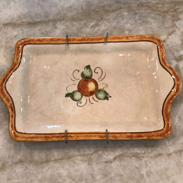 Brown Authentic Vietri Fruit Plate For Sale - Image 8 of 8