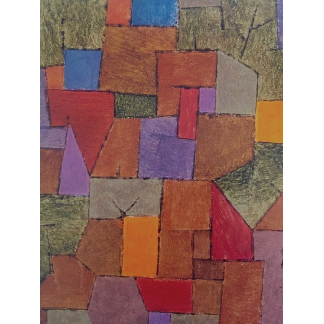 """1960s Paul Klee Vintage 1967 Authentic Abstract Lithograph Print """"Mountain Village Autumnal"""" 1943 For Sale - Image 5 of 8"""