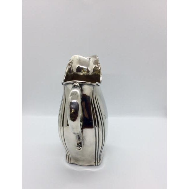 Art Deco Late 19th Century Antique Sterling Silver Pitcher For Sale - Image 3 of 9