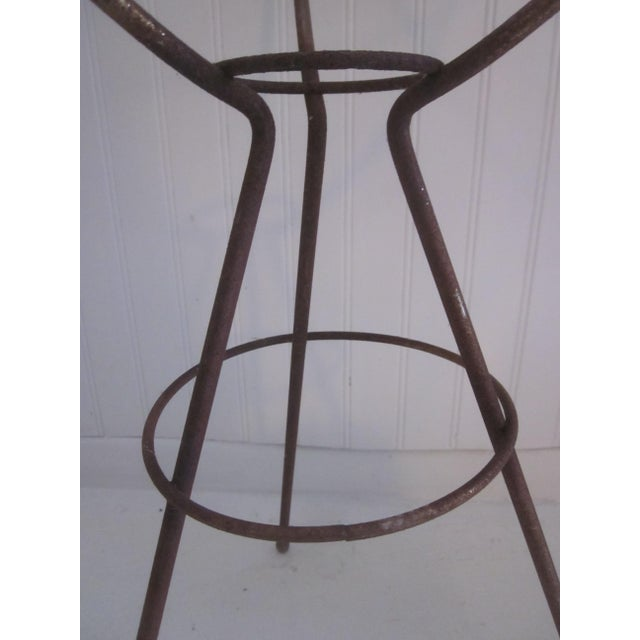 Mid Century Modern Atomic Wire Plant Stand Tripod - Image 9 of 11