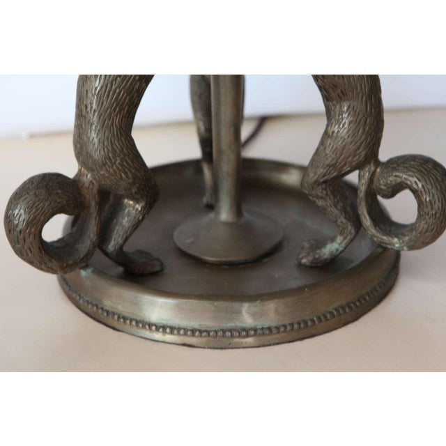 Silvered Bronze Squirrel Table Lamp - Image 6 of 10