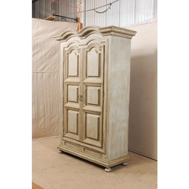 Mid 20th Century Brazilian Painted Wood Storage Cabinet For Sale - Image 5 of 12