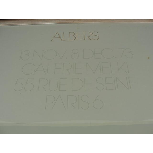 1973 Josef Albers Galerie Melki Poster - Image 4 of 7