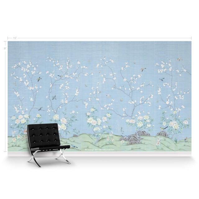 Chinoiserie Casa Cosima Ines Wallpaper Mural - Sample For Sale - Image 3 of 5