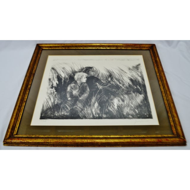 "Impressionism ""A Summer Place"" Vintage Framed Joan Purcell Signed Lithograph For Sale - Image 3 of 11"