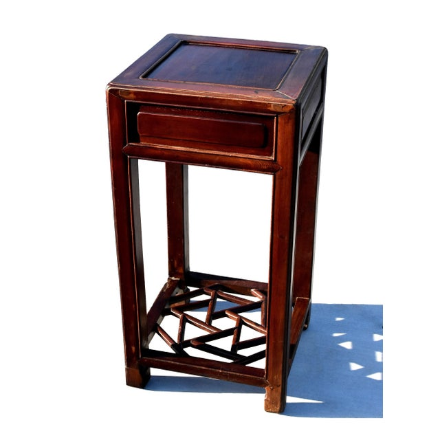 Asian 19th Century Chinese Antique Ming Side Table Lamp Table For Sale - Image 3 of 13