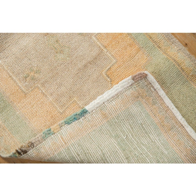 """Old New House Vintage Distressed Oushak Rug Mat Runner - 1'7"""" X 4' For Sale - Image 4 of 7"""