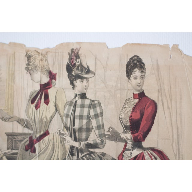 Antique 1880s Fashion Print For Sale - Image 4 of 5