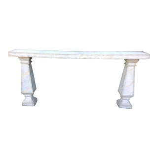 Neoclassical Concrete Indoor Outdoor Console Table