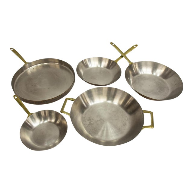 Vintage Paul Revere Limited Edition Copper Pans - Set of 5 For Sale