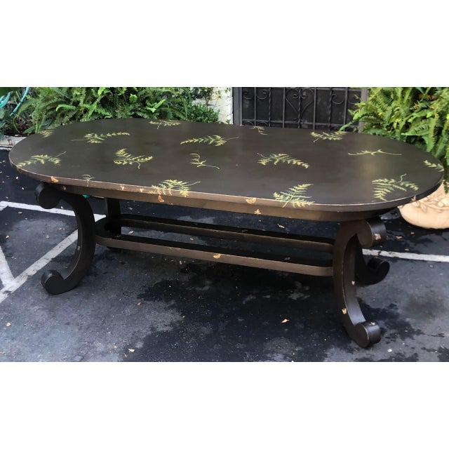 Wood Patina Furniture Inc. Hand Painted Italian Dining Table For Sale - Image 7 of 7