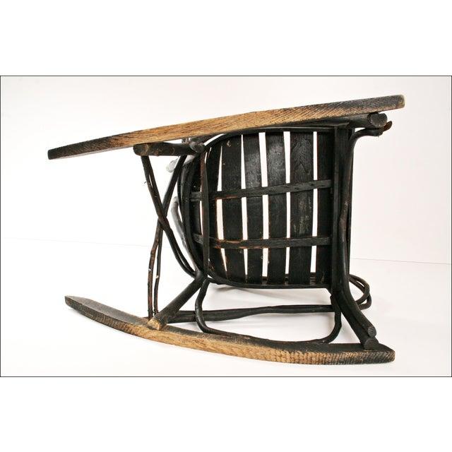 Vintage Adirondack Twig Wood Rocker - Image 7 of 11