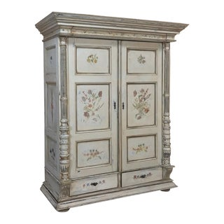 19th Century Italian Neoclassical Painted Armoire For Sale