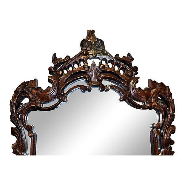 Carved Wood Mirror For Sale - Image 4 of 4